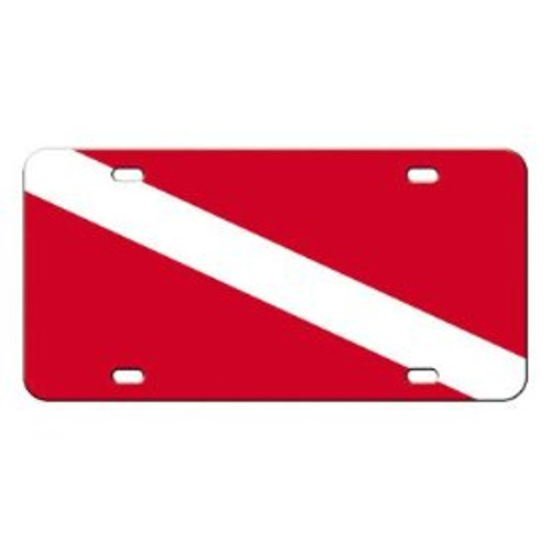 Dive flag license plate