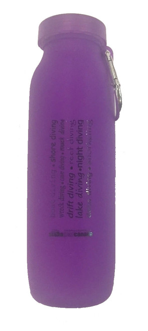 Silicone Water Bottle - Purple