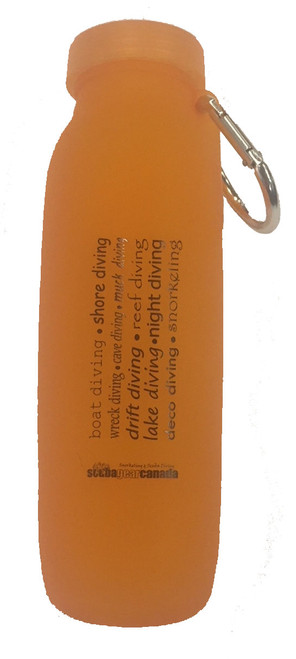 Silicone Water Bottle - Orange
