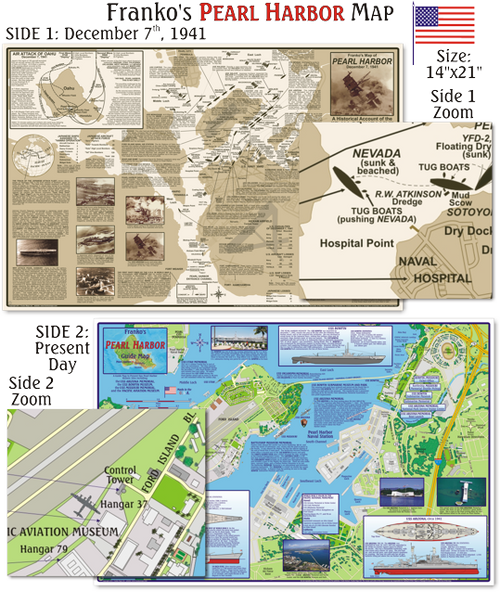 Waterproof Dive Site Map - Hawaii Pearl Harbour