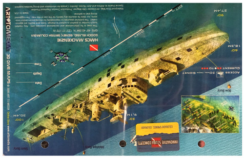 Waterproof Wreck Dive Site Card - MacKenzie