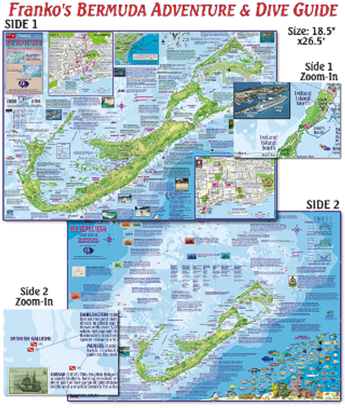 Waterproof Fish ID Card & Map - Bermuda