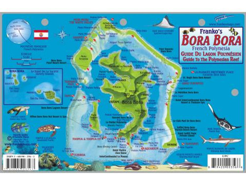 Waterproof Fish ID Card & Map - Bora Bora