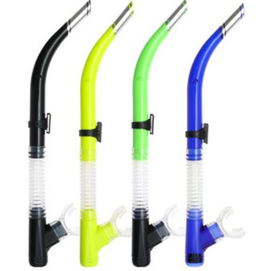 Basic Silicone Snorkel - Black, Yellow, Green, Blue