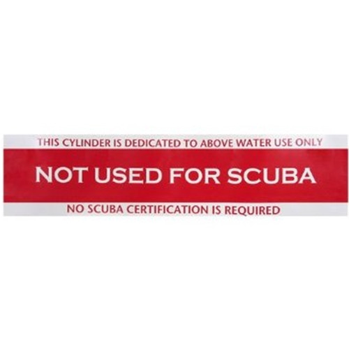 Not For Scuba Tank Sticker
