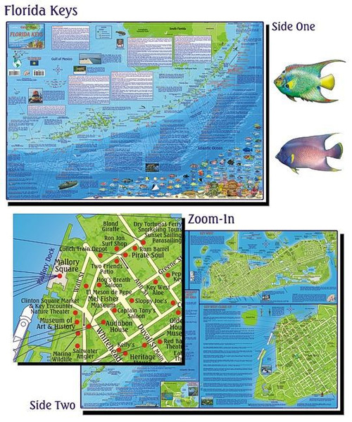 Waterproof Map with Dive Sites