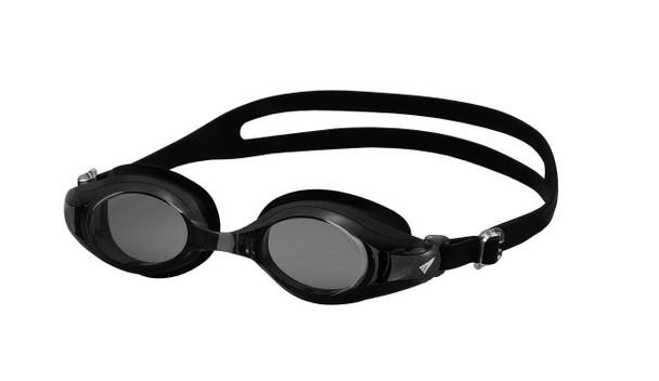 Swim Goggle with Corrective Optical Lenses to match your prescription - Black lens