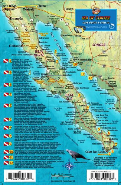 Baja & Sea of Cortez dive map