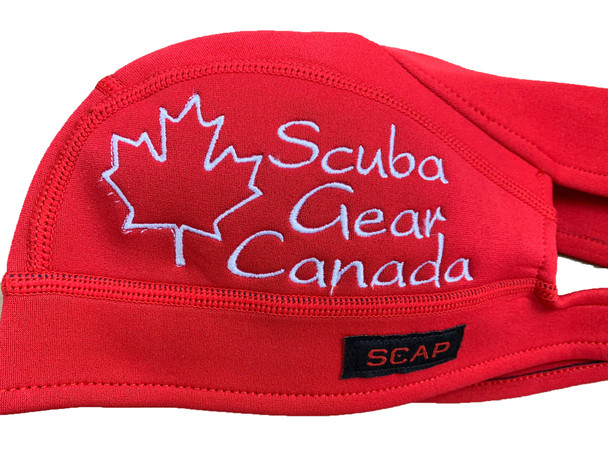 Scap - Red with Canadian maple leaf