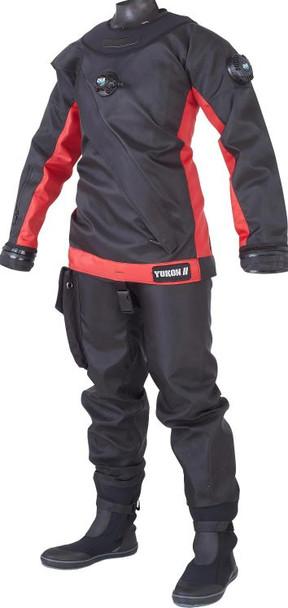 DUI Yukon II Drysuit - Black/Red