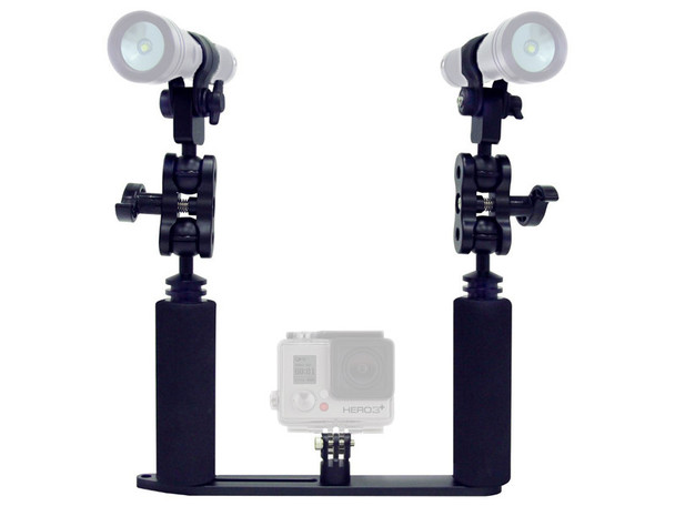 Big Blue GoPro Dual Tray w/ Grips, Adapters