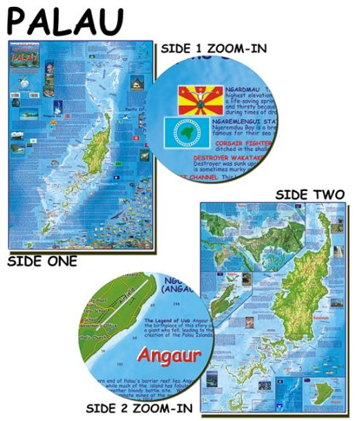 Waterproof Dive Site and Fish ID Map - Palau