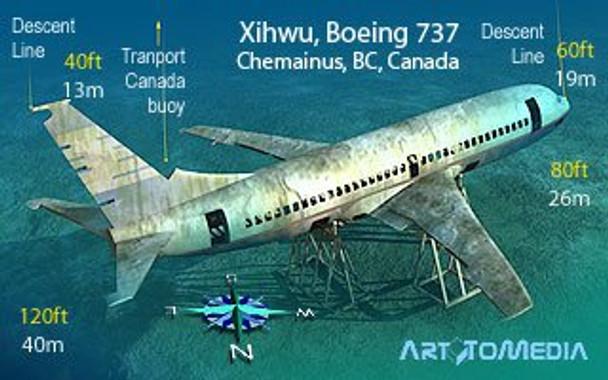 Waterproof Wreck Dive Card - Xihwu Boe 737 Chemanius