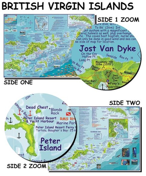 Waterproof Fish ID Card & Map - British Virgin Islands