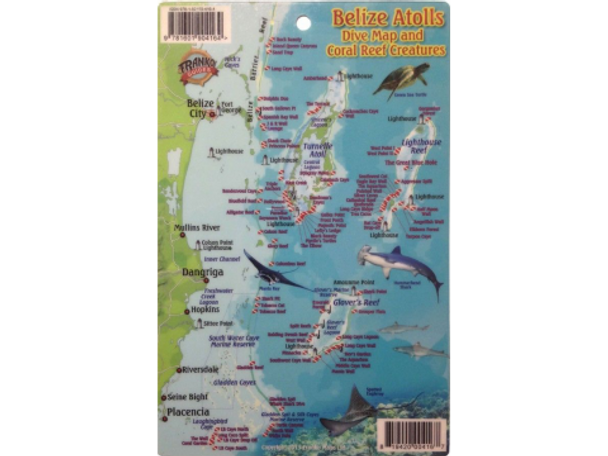 Waterproof Fish ID Card & Map - Belize Atolls