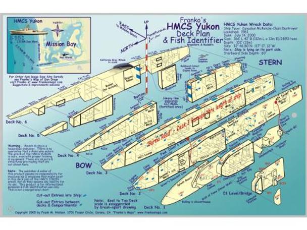 Waterproof Wreck Dive Site Card - Yukon