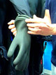 Cuff Rings with Rubber Gloves