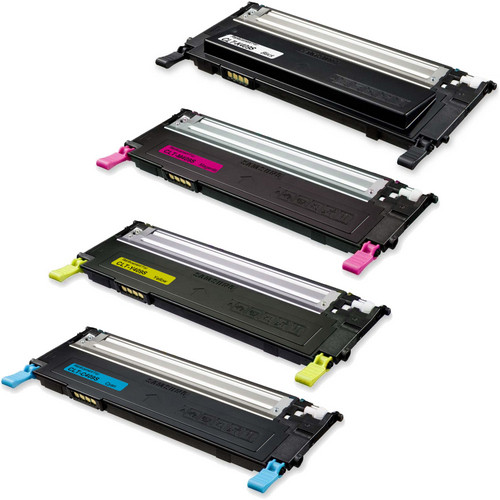 4 Pack - Remanufactured replacement for Samsung CLT-409S series laser toner cartridges