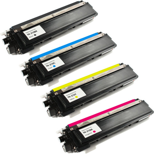 4 Pack - Remanufactured replacement for Brother TN210 series laser toner cartridges