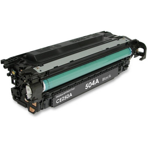 Remanufactured replacement for HP 504A (CE250A) black laser toner cartridge