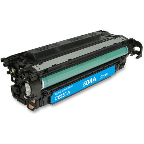 Remanufactured replacement for HP 504A (CE251A) cyan laser toner cartridge