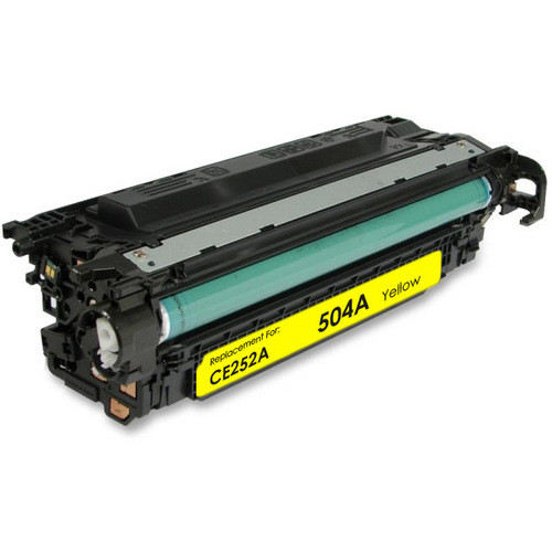 Remanufactured replacement for HP 504A (CE252A) yellow laser toner cartridge