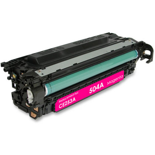 Remanufactured replacement for HP 504A (CE253A) magenta laser toner cartridge