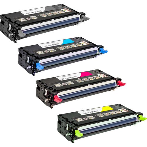 4 Pack - Compatible replacement for Dell 330-1198 series laser toner cartridges