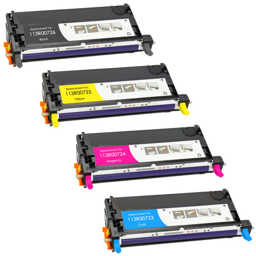 Xerox 113R00723 series laser toner cartridges - black and color set