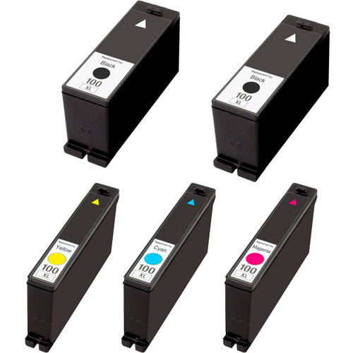 5 Pack - Compatible replacement for Lexmark 100XL
