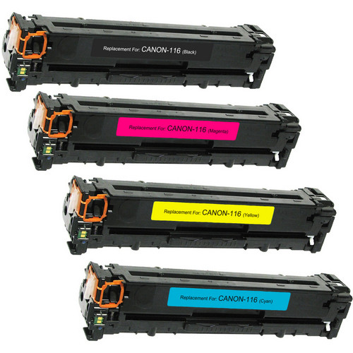 4 Pack - Compatible replacement for Canon 116 series laser toner cartridges