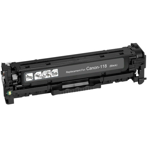 Compatible replacement for Canon 118 (2662B002AA) black laser toner cartridge