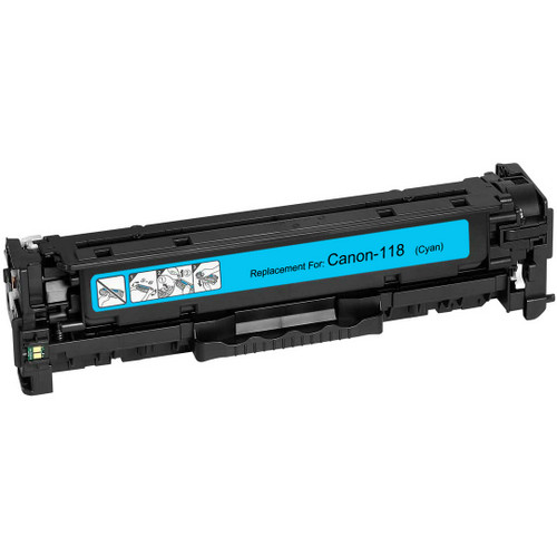 Compatible replacement for Canon 118 (2661B002AA) cyan laser toner cartridge