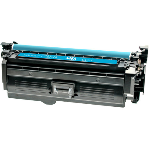 Compatible replacement for HP 648A (CE261A) cyan laser toner cartridge