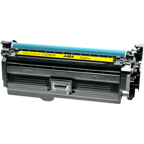 Compatible replacement for HP 648A (CE262A) yellow laser toner cartridge