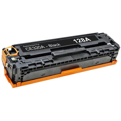 Compatible replacement for HP 128A (CE320A) black laser toner cartridge