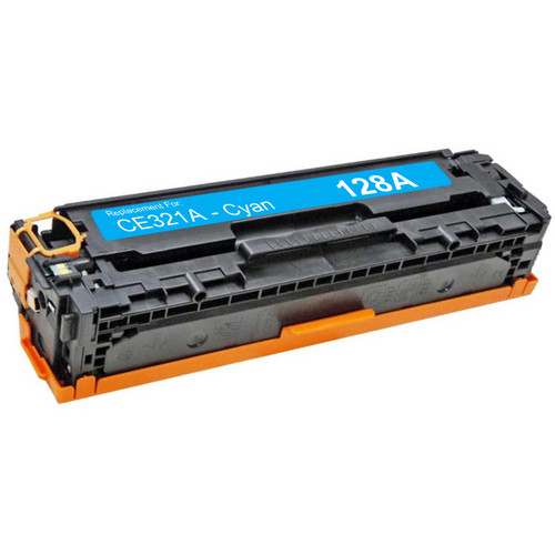 Compatible replacement for HP 128A (CE321A) cyan laser toner cartridge