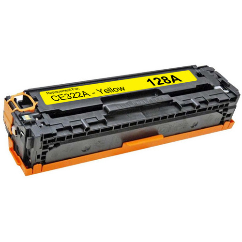 Compatible replacement for HP 128A (CE322A) yellow laser toner cartridge