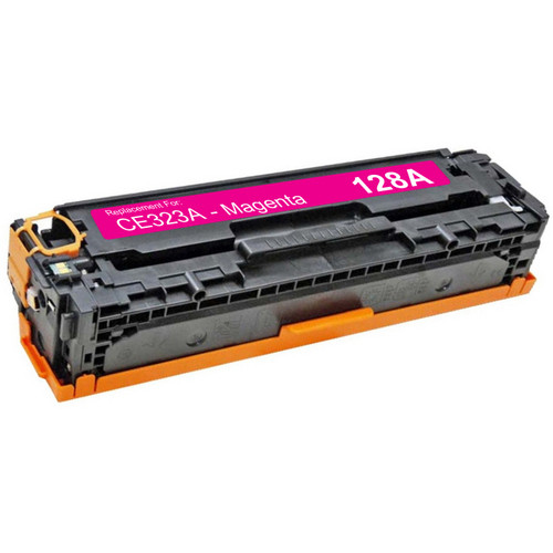 Compatible replacement for HP 128A (CE323A) magenta laser toner cartridge