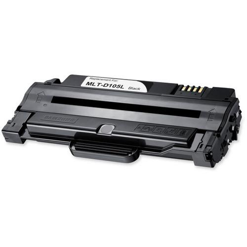 Remanufactured replacement for Samsung MLT-D105L black laser toner cartridge