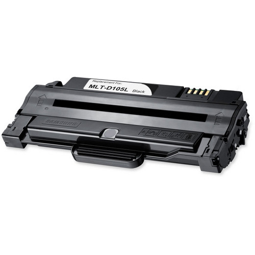 Remanufactured replacement for Samsung MLT-D105L black laser toner cartridge