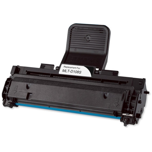 Remanufactured replacement for Samsung MLT-D108S black laser toner cartridge