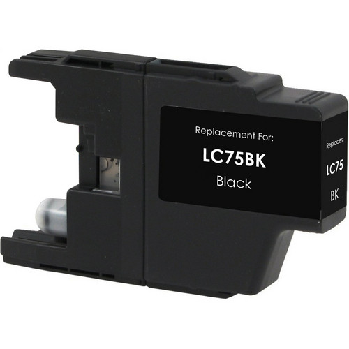 Compatible replacement for Brother LC75Bk black ink cartridge