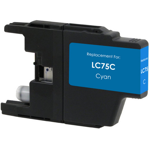 Compatible replacement for Brother LC75C cyan ink cartridge