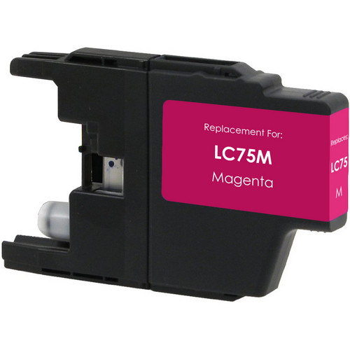 Compatible replacement for Brother LC75M magenta ink cartridge