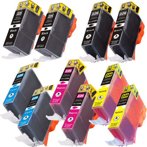 10 Pack - Compatible replacement for Canon PGi-225 and Cli-226 series ink cartridges