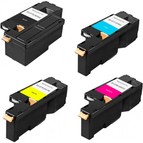 4 Pack - Compatible replacement for Dell 331-0777 series laser toner cartridges