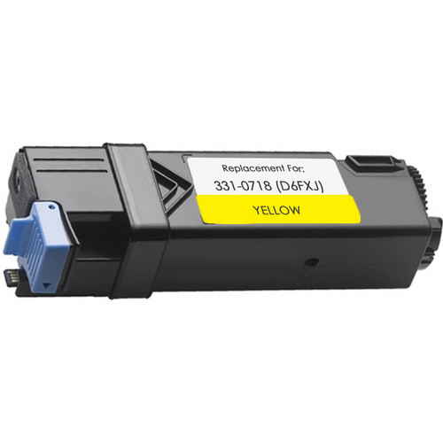 Remanufactured replacement for Dell 331-0718 (D6FXJ) yellow