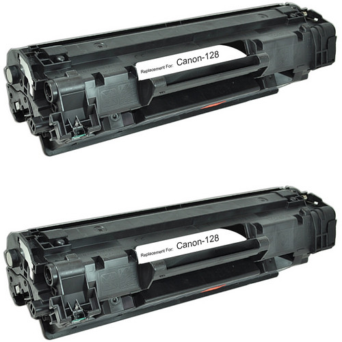 Twin Pack - Compatible replacement for Canon 128 (3500B001AA) black laser toner cartridge