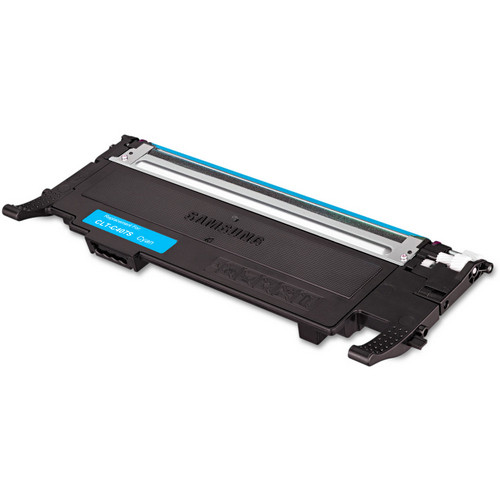 Remanufactured replacement for Samsung CLT-C407S cyan laser toner cartridge